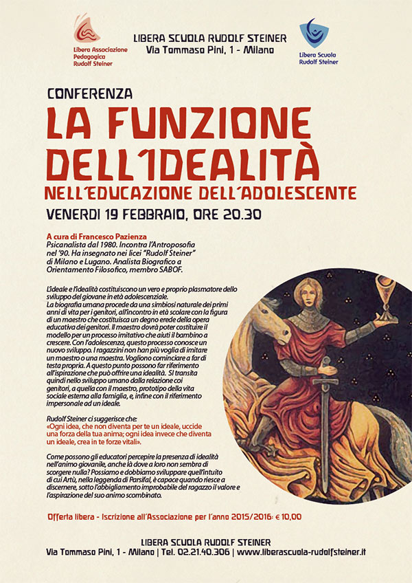 Francesco Pazienza - Conferenza Scuola Rudolf Steiner Milano - Febbraio 2016