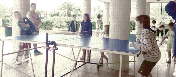 Una partita a ping-pong